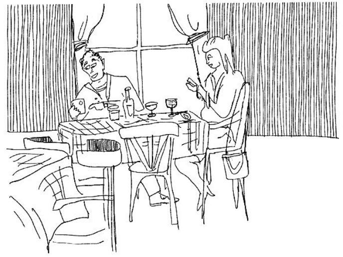 Na het eten in het Westerpaviljoen